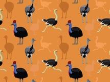 Papier peint d'autruches d'oiseau Images libres de droits
