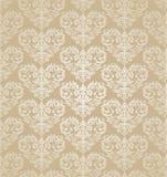 Papier peint d'or de damassé de coeurs floraux sans couture Photos stock