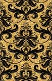 Papier peint d'or floral Images stock