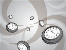 Papier peint d'horloge Photo libre de droits