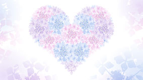Papier peint d'hortensia de forme de coeur Photographie stock
