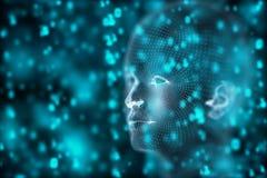 Papier peint d'intelligence artificielle et d'esprit illustration libre de droits