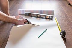 Papier peint de coupe de bricoleur Images libres de droits