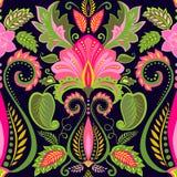 Papier peint de cru avec la configuration florale Image stock