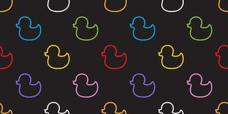 Papier peint de fond d'isolement par vecteur de Duck Rubber Seamless Pattern illustration libre de droits