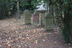 Papier peint de fond de pierre tombale de cimetière de Jewisch Photographie stock libre de droits
