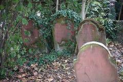 Papier peint de fond de pierre tombale de cimetière de Jewisch Photo libre de droits