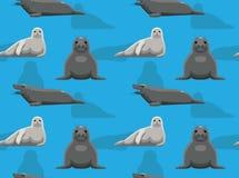 Papier peint de Grey Seal Cartoon Background Seamless illustration de vecteur
