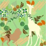 Papier peint de jungle Image libre de droits