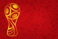 Papier peint de la coupe du monde 2018 - tournoi du football du monde dans R Photos libres de droits