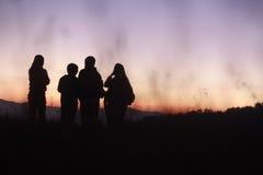 Papier peint de lever de soleil Photographie stock
