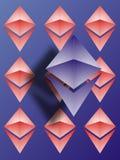 Papier peint de logo d'Ethereum Image stock