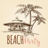 Papier peint de partie de plage illustration libre de droits