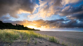 Papier peint de plage d'Oakura Photos stock