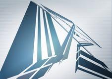 Papier peint de technologie avec la structure futuriste bleue Photos libres de droits