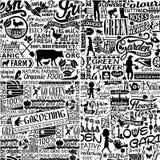 Papier peint différent de l'aliment biologique quatre frais de ferme Image libre de droits