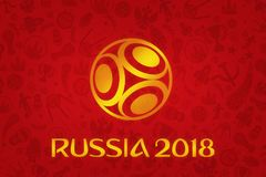 Papier peint du football 2018 de coupe du monde Image libre de droits