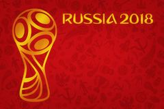 Papier peint du football 2018 de coupe du monde Photos libres de droits