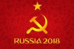 Papier peint du football 2018 de coupe du monde illustration de vecteur
