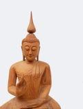 Papier peint en bois d'art de Bouddha Photographie stock