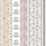 Papier peint en soie de vintage d'art déco avec des motifs ethniques et des éléments de Bohème Images stock