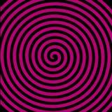 Papier peint en spirale hypnotique de vortex abstrait rond pourpre noir Image stock