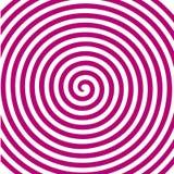 Papier peint en spirale hypnotique de vortex abstrait rond rose blanc Photos stock