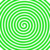 Papier peint en spirale hypnotique de vortex abstrait rond vert blanc Photographie stock