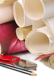 papier peint et outils Photo stock