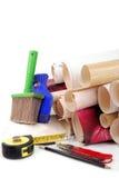 papier peint et outils Image stock