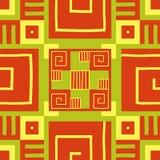 Papier peint ethnique Modèle AZTÈQUE Copie tribale Fond de vecteur illustration libre de droits