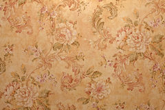 Papier peint de cru avec le modèle floral Photo libre de droits