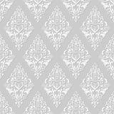 Papier Peint Floral Blanc Et Gris Illustration De Vecteur