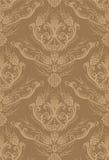 Papier peint floral brun sans joint illustration libre de droits