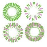 Papier peint floral d'abrégé sur conception d'illustration de vecteur de fond de modèle de tissu de tuile de couverture de fleur Images libres de droits