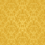 Papier peint floral d'or sans joint de luxe Image libre de droits