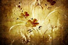 Papier peint floral de cru Photographie stock