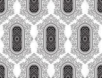 Papier peint floral de fantaisie noir sans couture Photos stock
