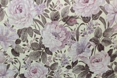 Papier peint floral de fond sur le mur image stock