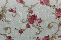 Papier peint floral de fond sur le mur photos stock
