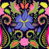 Papier peint floral de vintage avec l'alto Photo stock