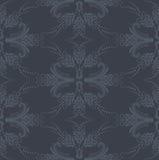 Papier peint floral gris sans joint de luxe Illustration Libre de Droits