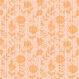 Papier peint floral neutre. remous et courbes d'usine illustration stock