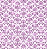 Papier peint floral rose sans couture sur le blanc Image libre de droits