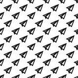 Papier peint géométrique d'abrégé sur de papier modèle de planeur Illust de vecteur illustration de vecteur