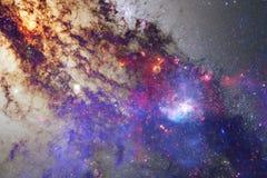 Papier peint, galaxies et nébuleuses de l'espace de la science-fiction dans l'image cosmique impressionnante illustration de vecteur