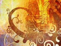 Papier peint grunge floral illustration de vecteur