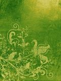 Papier peint grunge vert Photos libres de droits