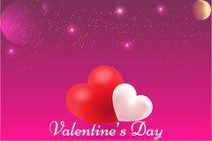 Papier peint heureux de Saint-Valentin, affiche, calibre de carte illustration libre de droits