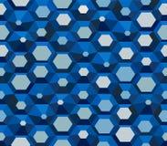 Papier peint hexagonal - modèle bleu de vecteur de cru photographie stock libre de droits